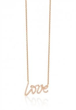 Novelty rose gold diamond love pendant set in 14K rose gold at EFFY