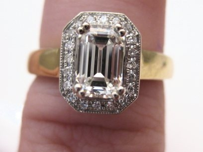 Emerald Cut with Halo