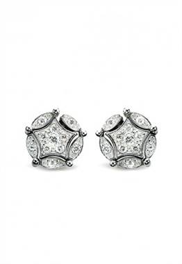 DiVersa sterling silver diamond earrings at EFFY