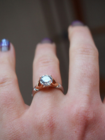 MaeVona Jura engagement ring profile