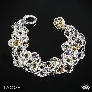 Tacori color medley multi-strand bracelet in sterling silver and 18K yellow gold at Whiteflash