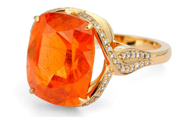 Mandarin Garnet ring by David Miracca