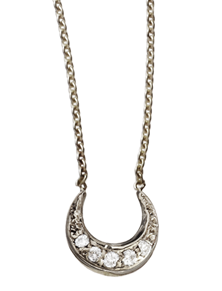 Mini diamond moon necklace by Manon