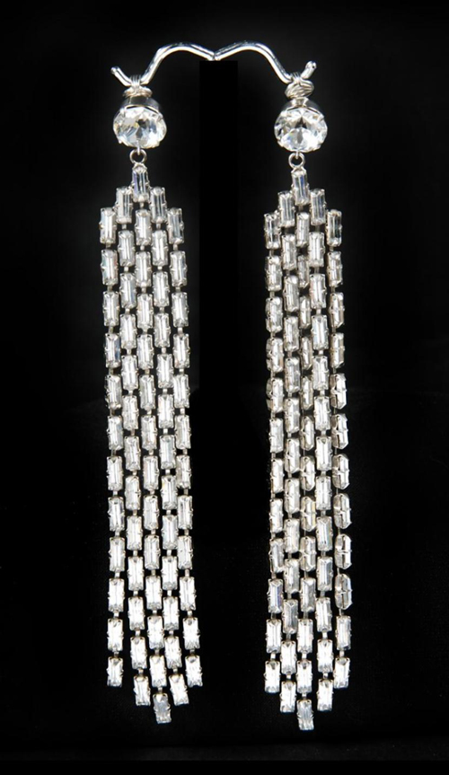 Rhinestone earrings worn by Marilyn Monroe