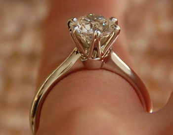 Mark Morrell Starburst Engagement Ring