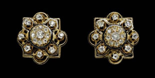 Diamond earrings owned by Mary Todd Lincoln