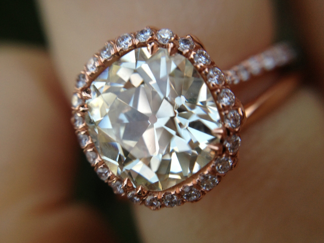 Jewel Of The Week Dreamy Rose Gold Halo Diamond Ring