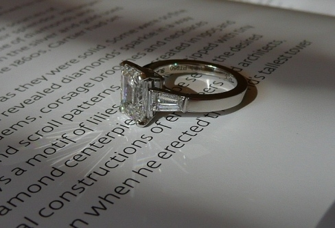 Van Cleef & Arpels Emerald Cut Diamond Ring