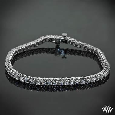 White gold X-prong diamond tennis bracelet in 14K white gold at Whiteflash