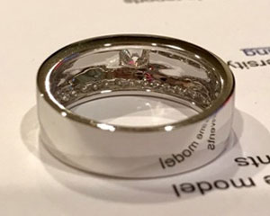 praween_s's Unique Men's Diamond Ring (Back Angle View) - image from praween_s