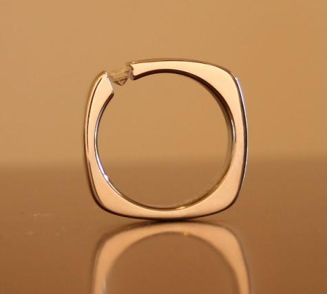 Men's Boone Titanium Tension Set Diamond Ring