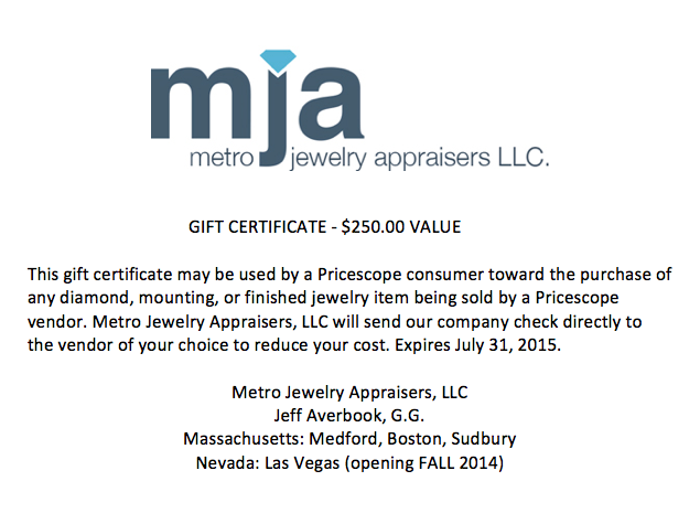 Metro Jewelry Appraisers door prize 2014 PS GTG