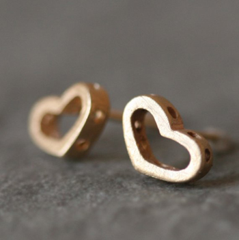 Michelle Chang Open Heart Stud Earrings
