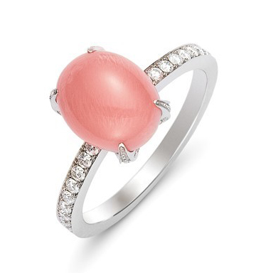 One-of-a-kind Empress ring with 7mm conch pearl by Mikimoto