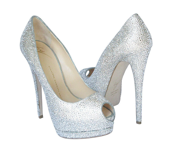 Million Dollar Diamond Shoes by Crystal Heels, at Leon's of Beverly Hills