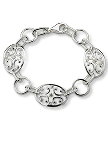 Monica Rich Kosann Sterling Silver Gate Bracelet