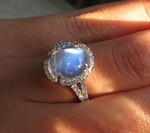 Jewel Of The Week Dreamy Moonstone And Diamond Halo Ring