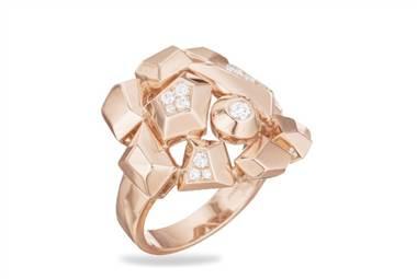 Jackson diamond cluster ring in 18K rose gold at Ritani