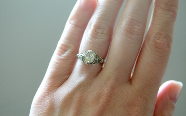 Custom Oval Diamond Ring by Ann McKay
