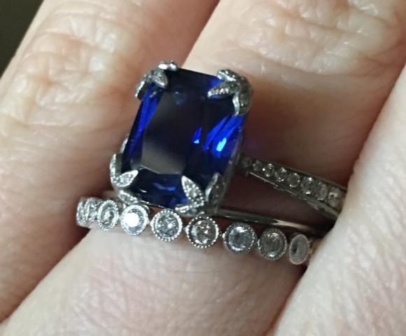 Mrsgreeneyes Magnificent Sapphire Anniversary Ring