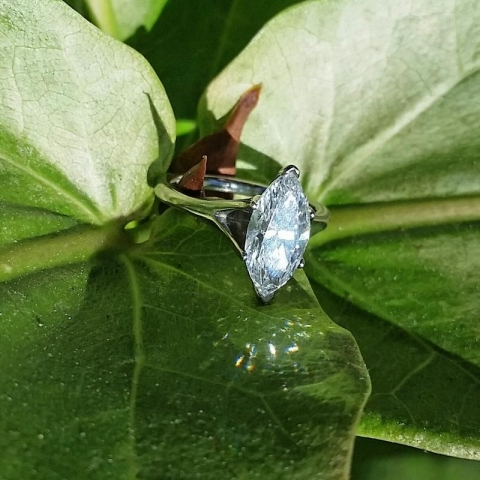 Naivemelody's Marquise Cut Diamond Engagement Ring