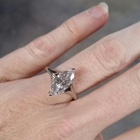 Naivemelody's Marquise Cut Diamond Engagement Ring after transformation<