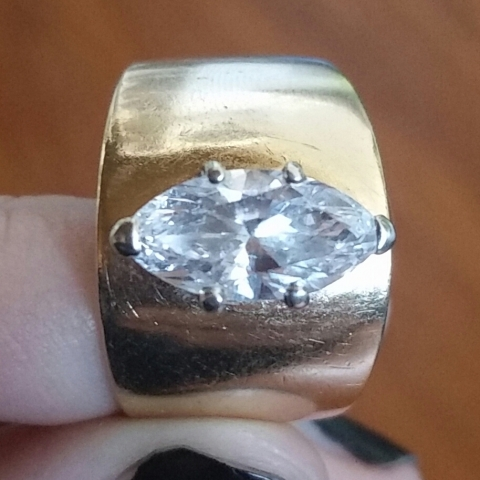 Naivemelody's Marquise Cut Diamond Engagement Ring before transformation