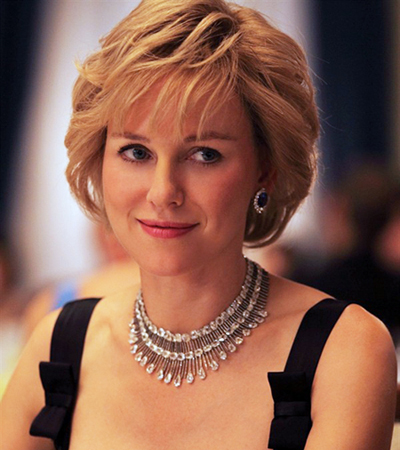 Naomi Watts wears Chopard jewelry in 'Diana