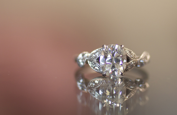 Old cut oval diamond ring