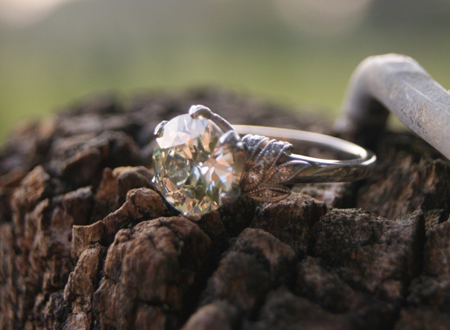 platinum vintage style diamond ring
