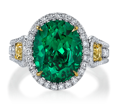 Omi Gems Tsavorite Garnet and Diamond Ring, 2011 AGTA Award Winner