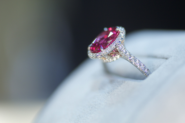 Omi Privé Spinel and Diamond Ring