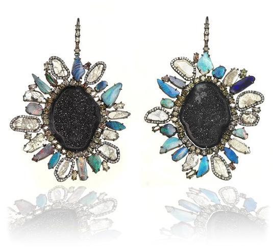 Kimberly McDonald earrings worn by Miranda Lambert at the 2013 Grammy Awards