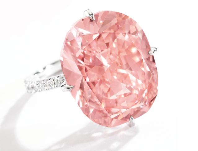 15.23-carat orangy pink diamond • Sotheby's