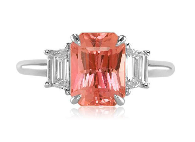 Padparadscha Sapphire Ring by The Natural Sapphire Company