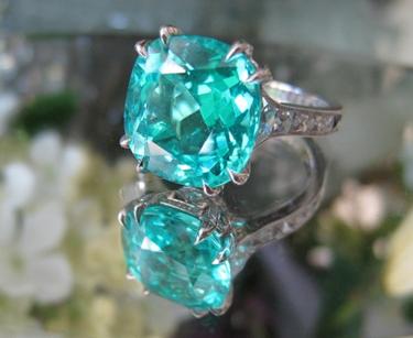 Paraiba Tourmaline Diamond Ring