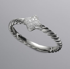 David Yurman Diamond Stack Ring