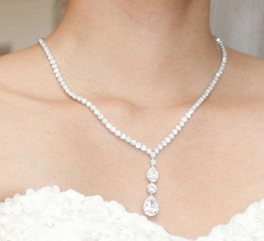 Peachy4397's 20 ct Pear Diamond Necklace TBT