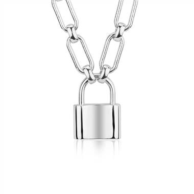 Padlock necklace in sterling silver at Blue Nile