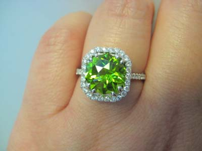 Pakistani Peridot ring