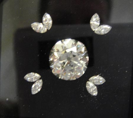 Loose old mine brilliant and marquise cut diamonds