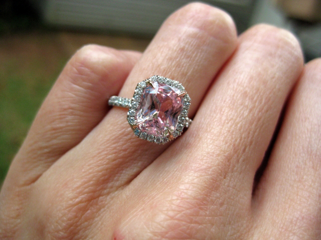 rings stone ring want love i pink wedding pin marriage this
