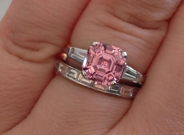 Pink spinel and diamond ring shared by FrekeChild
