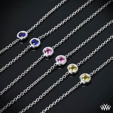 "Platinum ""Color Me Mine"" Diamond and Pink Sapphire Necklace"