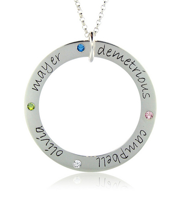Posh Mommy 4 name forever loop with birthstones