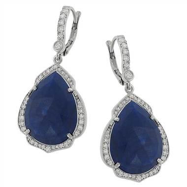 Penny Preville E4178W Penny Preville True Blue Collection Dangle Earrings