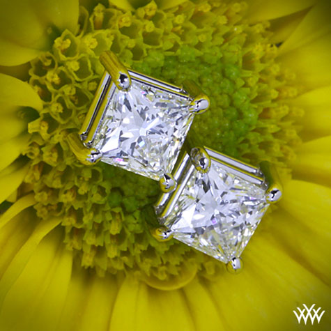 A CUT ABOVE Princess Diamond Stud Earrings from Whiteflash