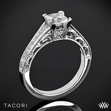Tacori reverse crescent graduated set in 18K white gold at Whiteflash