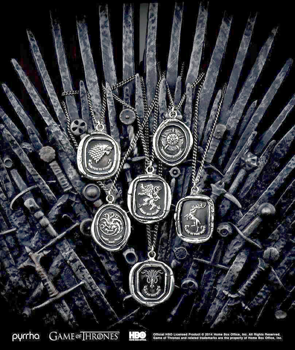 Game of Thrones Talisman Necklaces from Pyrrha & HBO