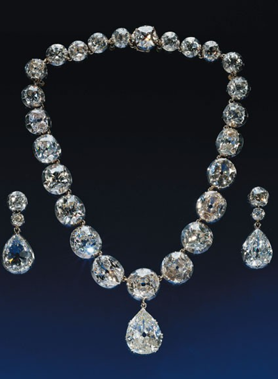 Queen Elizabeth II Diamond Jubilee 2012 Coronation Diamond Necklace and Earrings